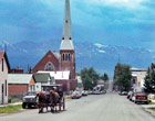 Horse-drawn carriage in downtown Leadville, CO