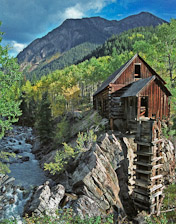 The mill on the Crystal River near Marble, CO