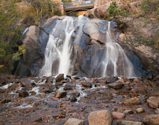Helen Hunt Falls in North Cheyenne Cañon City Park near Colorado Springs, Colorado.