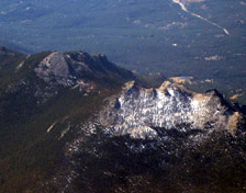 Aerial View of Twin Sisters Peaks courtesy Doc Searls